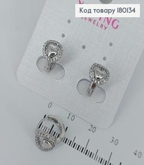 Сережки кільця з камінцями  медичне золото Xuping 180134 фото