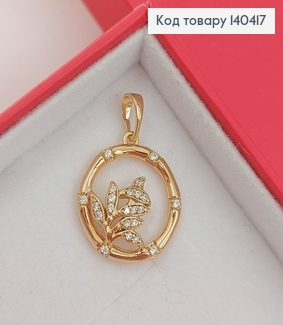 Кулон Цветочек в камнях медицинское золото Xuping 140417 фото