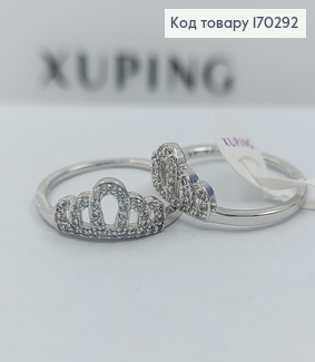 Перстень Корона  з камніцями медичне золото Xuping 170292 фото