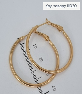 Сережки кільця 3,5см  медичне золото Xuping 111020 фото