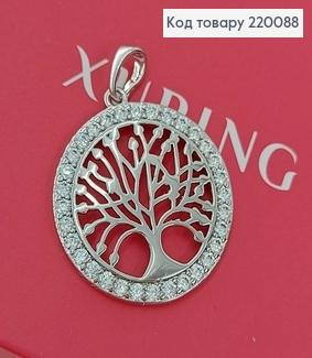 Кулон дерево з камінцями родіроване  медичне золото Xuping   220088 фото