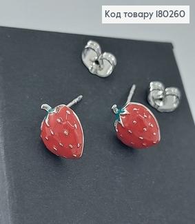 Сережки гвіздки клубнічки родіроване медзолото Xuping 180260 фото