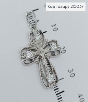 Хрестик  2,5х2см   родірований Xuping  210037 фото