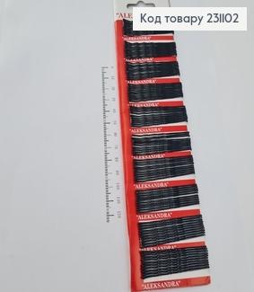Заколка невидимка метал чорна 5 см 100 шт/уп  231102 фото