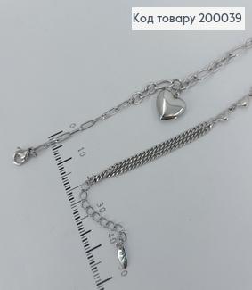 Браслет  з підвіскою серце 18,5+3см Xuping 200039 фото
