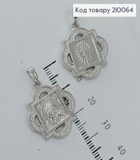 Иконка Богородица 2*2см родироване медзолото Xuping 210064 фото