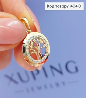 Кулон   Дерево життя  в оправі з камінців медичне золото Xuping  140410 фото
