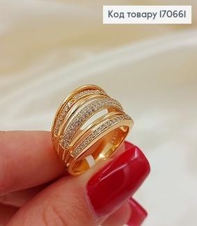 Кольцо Тиана с камнями медицинское золото 18К Xuping 170368 фото