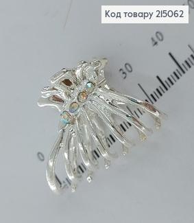 Краб метал срібний Павучок  з камінцями  215062 фото