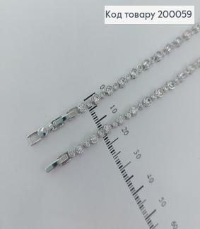 Браслет  родірований  з камінцями17+2см медзолото Xuping  200059 фото