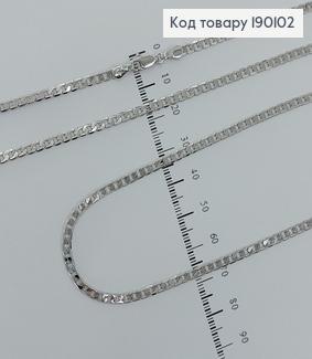 Ланцюжок родірований 3 мм, довжина 60см медичне золото  Xuping 190102 фото