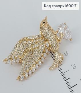 Брошка  з камінцями  медичне золото Xuping 160017 фото