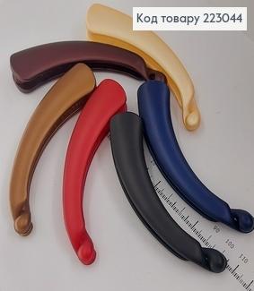 Заколка банан пластик кольоровий в асорт. 223044 фото