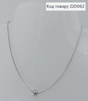 Кулон Бусинка на ланцюжку 45см  медичне золото  Xuping 220062 фото
