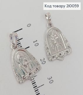 Иконка Богородица 1,3 * 2 см родироване медзолото Xuping 210059 фото