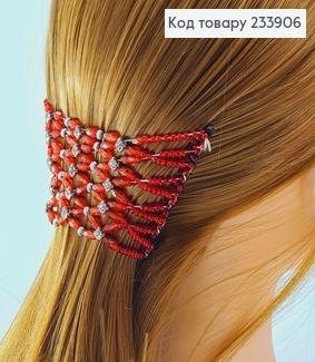 Заколка Монтера для волосся червона 233906 фото