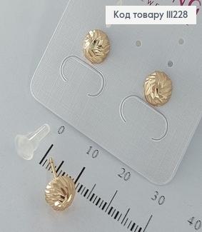 Сережки  гвіздки  з напівкулями 0,8см медичне золото 18К Xuping 111228 фото