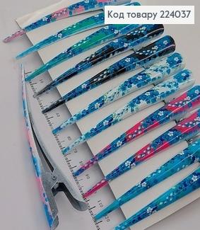 Заколка стрела металл разноцветные цветочки 12,5 см 224037 фото