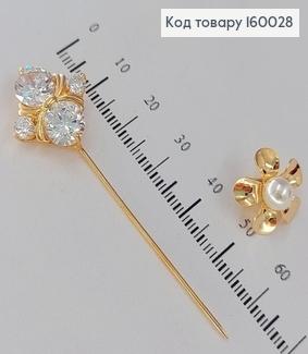 Брошка  в камінцях медичне золото  Xuping 18к 160028 фото