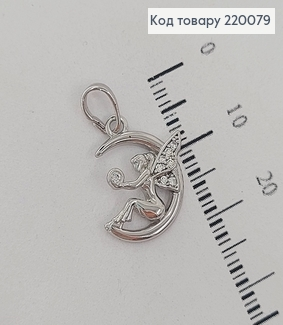 Кулон родирований Фея с каминцямы 1,5 см медзолото Xuping 220079 фото