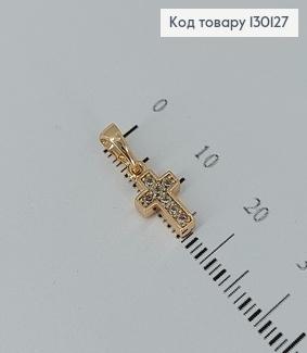 Хрестик з камінцями  медсплав Xuping 0,9*0,6см 130127 фото