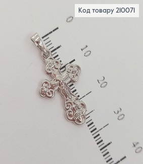 Крестик с распятием 2,4х1,6см  родироване медзолото Xuping 210071 фото