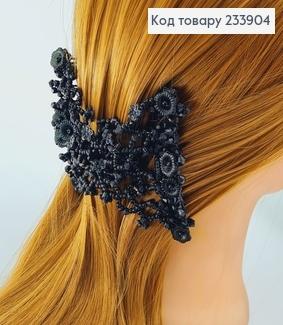 Заколка Монтера для волосся чорна  233904 фото