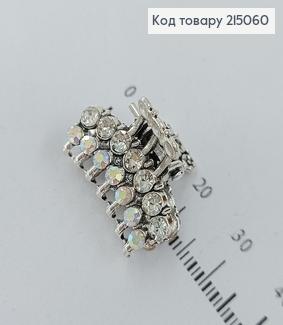 Краб метал Металік з камінцями та перлинками 215060 фото