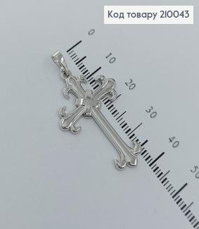 Хрестик  3х2см родіроване   медзолото Xuping  210043 фото