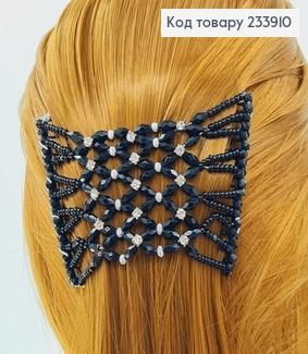 Заколка Монтера для волосся чорна з камінцями 233910 фото