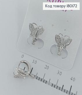 Серьги  кольца  Бабочки с камнями медзолото  Xuping 180172 фото