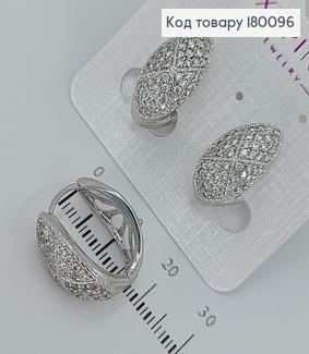 Сережки Овальні з камінцями  медичне золото Xuping 180096 фото