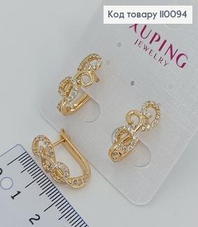Сережки з камінцями медичне золото Xuping 110094 фото